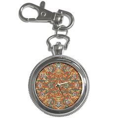 Multicolored Abstract Ornate Pattern Key Chain Watches by dflcprints