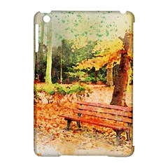 Tree Park Bench Art Abstract Apple Ipad Mini Hardshell Case (compatible With Smart Cover) by Celenk