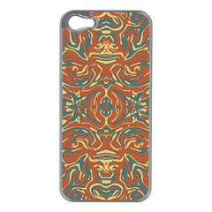 Multicolored Abstract Ornate Pattern Apple Iphone 5 Case (silver) by dflcprints