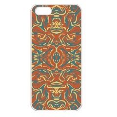 Multicolored Abstract Ornate Pattern Apple Iphone 5 Seamless Case (white) by dflcprints