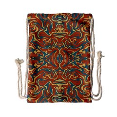Multicolored Abstract Ornate Pattern Drawstring Bag (small) by dflcprints