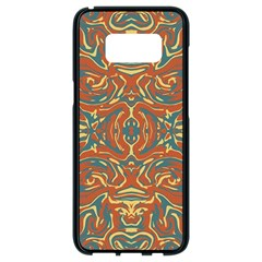 Multicolored Abstract Ornate Pattern Samsung Galaxy S8 Black Seamless Case by dflcprints