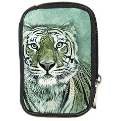 Tiger Cat Art Abstract Vintage Compact Camera Cases by Celenk