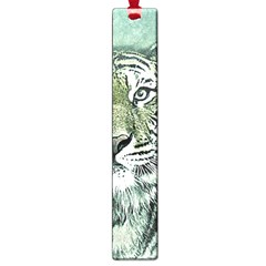 Tiger Cat Art Abstract Vintage Large Book Marks