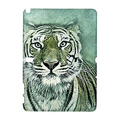 Tiger Cat Art Abstract Vintage Galaxy Note 1