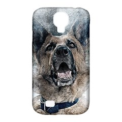 Dog Pet Art Abstract Vintage Samsung Galaxy S4 Classic Hardshell Case (pc+silicone) by Celenk
