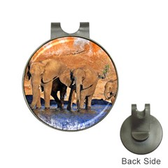 Elephants Animal Art Abstract Hat Clips With Golf Markers by Celenk