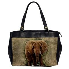 Elephant Animal Art Abstract Office Handbags by Celenk