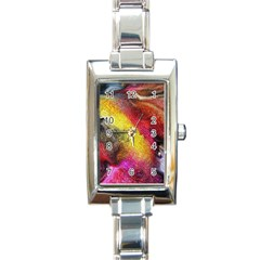 Background Art Abstract Watercolor Rectangle Italian Charm Watch by Celenk