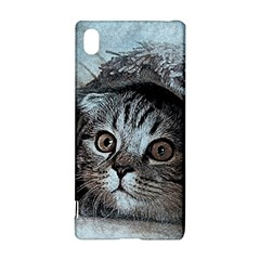 Cat Pet Art Abstract Vintage Sony Xperia Z3+ by Celenk