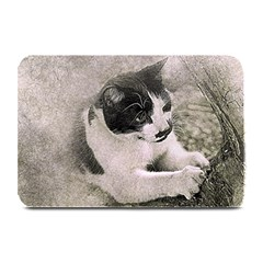Cat Pet Art Abstract Vintage Plate Mats