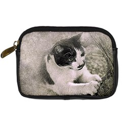 Cat Pet Art Abstract Vintage Digital Camera Cases by Celenk