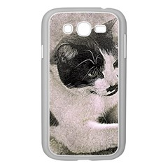 Cat Pet Art Abstract Vintage Samsung Galaxy Grand Duos I9082 Case (white) by Celenk