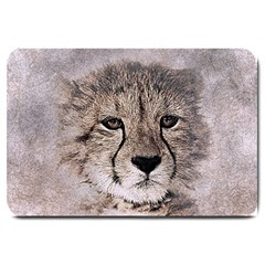 Leopard Art Abstract Vintage Baby Large Doormat  by Celenk
