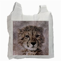 Leopard Art Abstract Vintage Baby Recycle Bag (two Side)  by Celenk