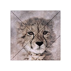 Leopard Art Abstract Vintage Baby Acrylic Tangram Puzzle (4  X 4 ) by Celenk