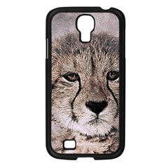 Leopard Art Abstract Vintage Baby Samsung Galaxy S4 I9500/ I9505 Case (black)