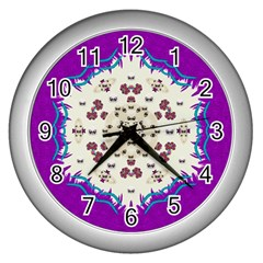 Eyes Looking For The Finest In Life As Calm Love Wall Clocks (silver)  by pepitasart