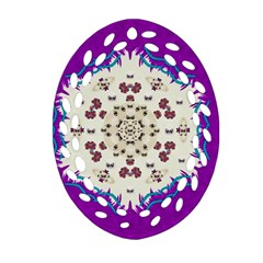 Eyes Looking For The Finest In Life As Calm Love Ornament (oval Filigree) by pepitasart