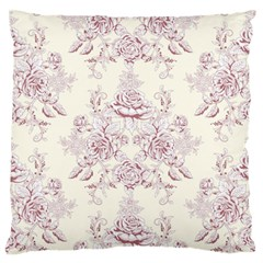 French Chic Large Flano Cushion Case (two Sides) by 8fugoso