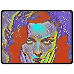 Femm Fatale Double Sided Fleece Blanket (large)  by 8fugoso