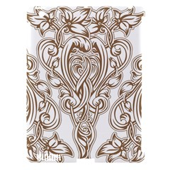 Beautiful Gold Floral Pattern Apple Ipad 3/4 Hardshell Case (compatible With Smart Cover) by 8fugoso