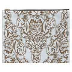 Beautiful Gold Floral Pattern Cosmetic Bag (xxxl)  by 8fugoso