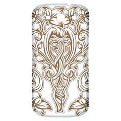 Beautiful Gold Floral Pattern Samsung Galaxy S3 S Iii Classic Hardshell Back Case by 8fugoso