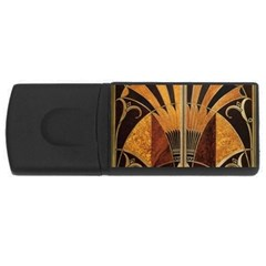 Art Deco Gold Rectangular Usb Flash Drive by 8fugoso