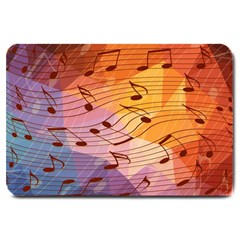 Music Notes Large Doormat  by linceazul