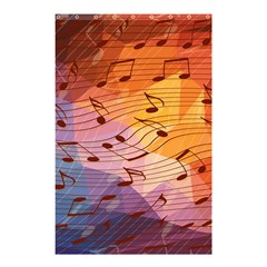 Music Notes Shower Curtain 48  X 72  (small)  by linceazul