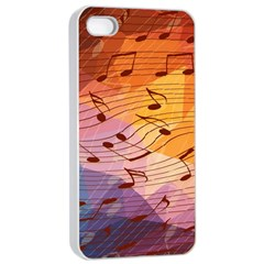 Music Notes Apple Iphone 4/4s Seamless Case (white) by linceazul