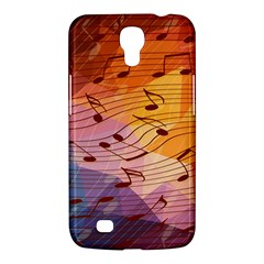 Music Notes Samsung Galaxy Mega 6 3  I9200 Hardshell Case by linceazul