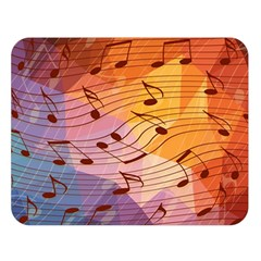 Music Notes Double Sided Flano Blanket (large)  by linceazul