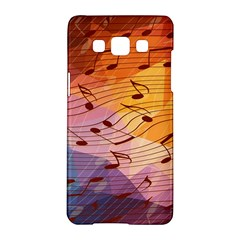 Music Notes Samsung Galaxy A5 Hardshell Case  by linceazul
