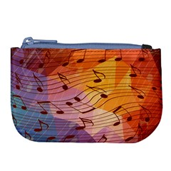 Music Notes Large Coin Purse by linceazul