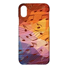 Music Notes Apple Iphone X Hardshell Case by linceazul