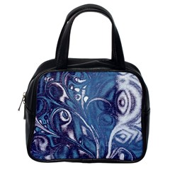 Mystic Blue Flower Classic Handbags (one Side) by Cveti