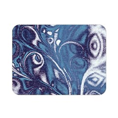 Mystic Blue Flower Double Sided Flano Blanket (mini)  by Cveti