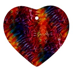 Vibrant Hippy Tye Dye Ornament (heart) by KirstenStar