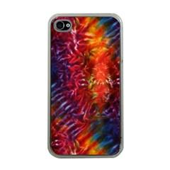 Vibrant Hippy Tye Dye Apple Iphone 4 Case (clear) by KirstenStar