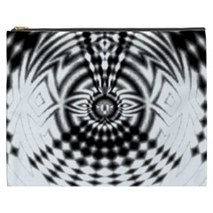 Ornaments Pattern Black White Cosmetic Bag (xxxl)  by Cveti