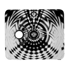 Ornaments Pattern Black White Galaxy S3 (flip/folio) by Cveti