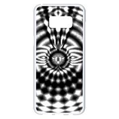 Ornaments Pattern Black White Samsung Galaxy S8 Plus White Seamless Case by Cveti