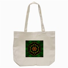 Magic Of Life A Orchid Mandala So Bright Tote Bag (cream) by pepitasart