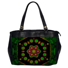Magic Of Life A Orchid Mandala So Bright Office Handbags by pepitasart