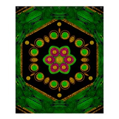 Magic Of Life A Orchid Mandala So Bright Shower Curtain 60  X 72  (medium)  by pepitasart