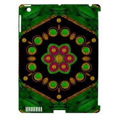 Magic Of Life A Orchid Mandala So Bright Apple Ipad 3/4 Hardshell Case (compatible With Smart Cover) by pepitasart
