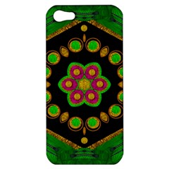 Magic Of Life A Orchid Mandala So Bright Apple Iphone 5 Hardshell Case by pepitasart
