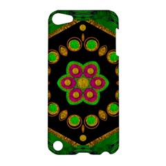 Magic Of Life A Orchid Mandala So Bright Apple Ipod Touch 5 Hardshell Case by pepitasart